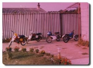 De gauche à droite : Malagutti, Benelli,103 Coupe,TY50